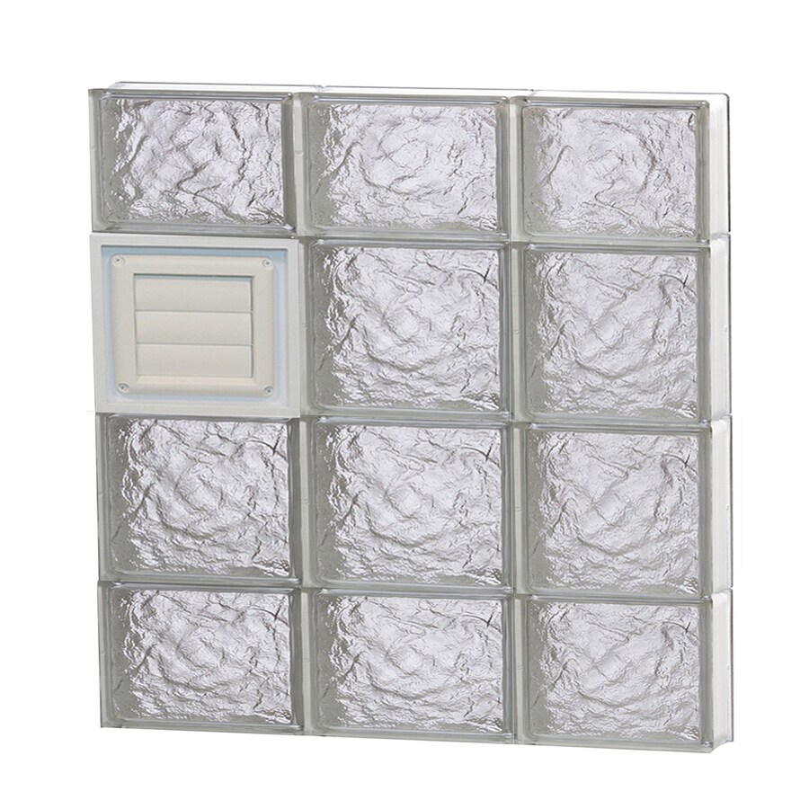 REDI2SET Ice Glass Pattern Frameless Replacement Glass Block Window (Rough Opening: 24-in x 28-in; Actual: 23.25-in x 27-in)