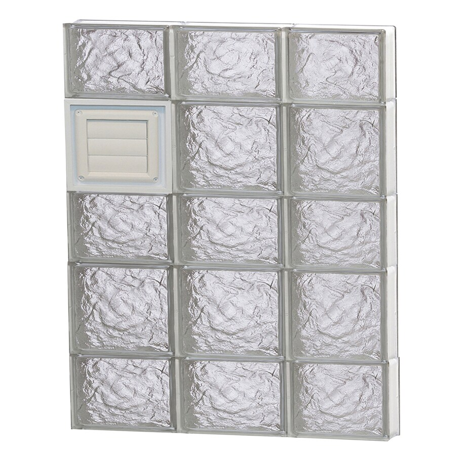 REDI2SET Ice Glass Pattern Frameless Replacement Glass Block Window (Rough Opening: 24-in x 34-in; Actual: 23.25-in x 32.75-in)