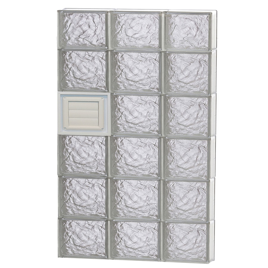 REDI2SET Ice Glass Pattern Frameless Replacement Glass Block Window (Rough Opening: 24-in x 44-in; Actual: 23.25-in x 42.5-in)