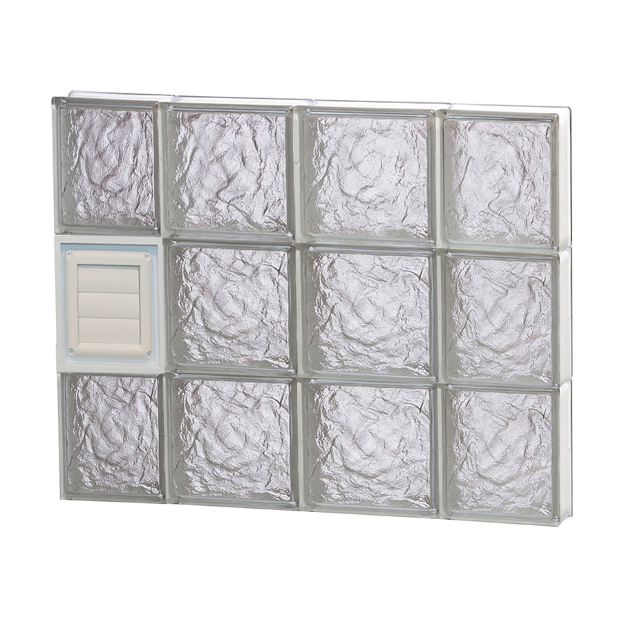 REDI2SET Ice Glass Pattern Frameless Replacement Glass Block Window (Rough Opening: 28-in x 24-in; Actual: 27-in x 23.25-in)