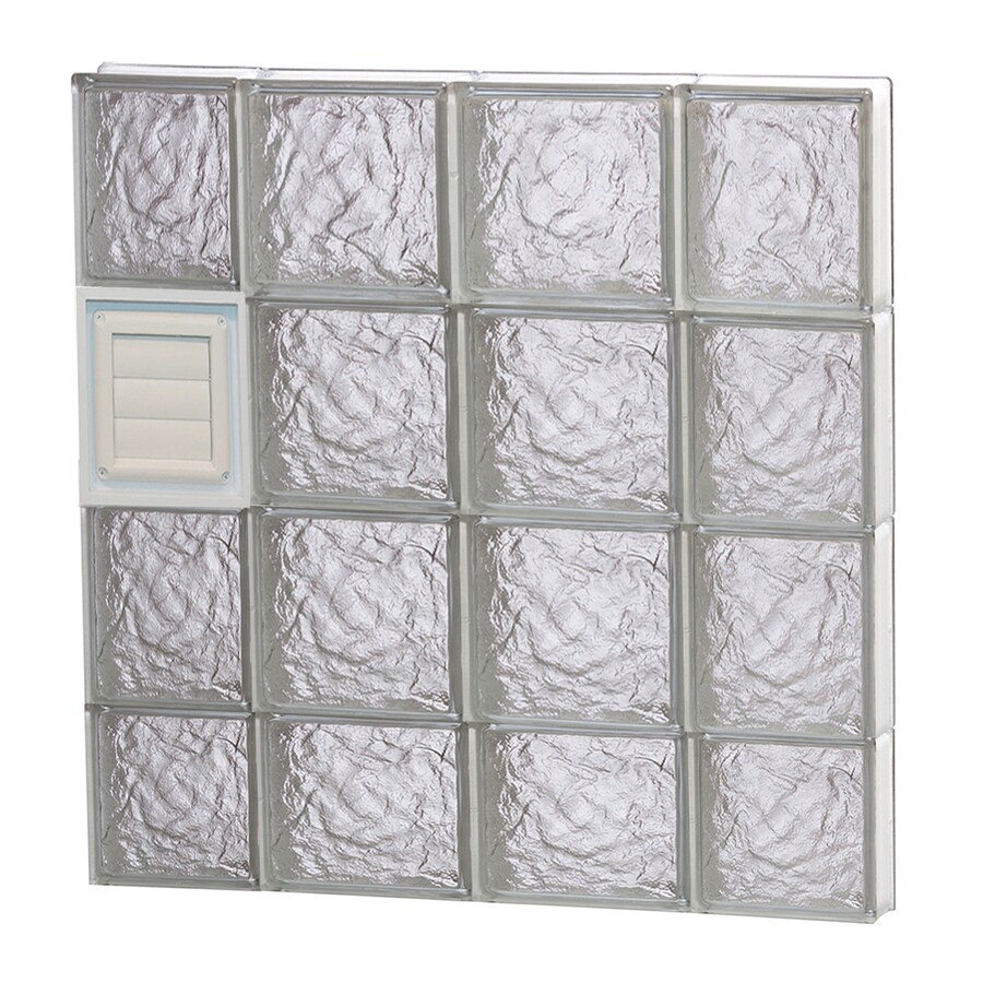 REDI2SET Ice Glass Pattern Frameless Replacement Glass Block Window (Rough Opening: 28-in x 30-in; Actual: 27-in x 29-in)