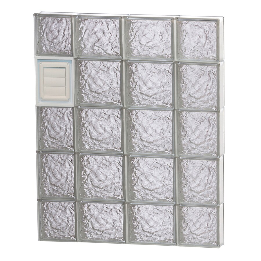 REDI2SET Ice Glass Pattern Frameless Replacement Glass Block Window (Rough Opening: 28-in x 36-in; Actual: 27-in x 34.75-in)