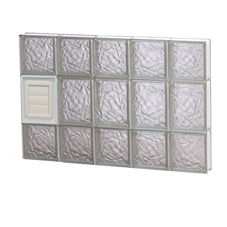 REDI2SET Ice Glass Pattern Frameless Replacement Glass Block Window (Rough Opening: 30-in x 20-in; Actual: 28.75-in x 19.25-in)