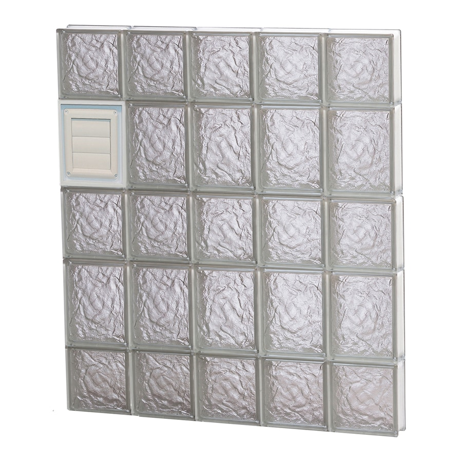 REDI2SET Ice Glass Pattern Frameless Replacement Glass Block Window (Rough Opening: 30-in x 34-in; Actual: 28.75-in x 32.75-in)