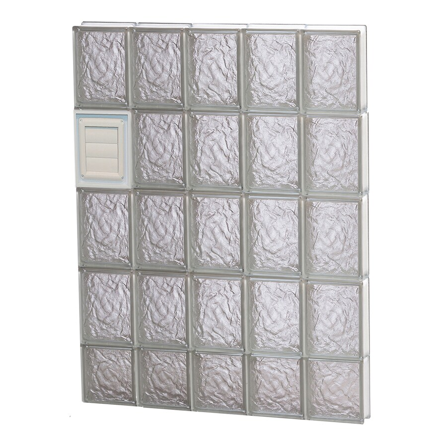 REDI2SET Ice Glass Pattern Frameless Replacement Glass Block Window (Rough Opening: 30-in x 38-in; Actual: 28.75-in x 36.75-in)