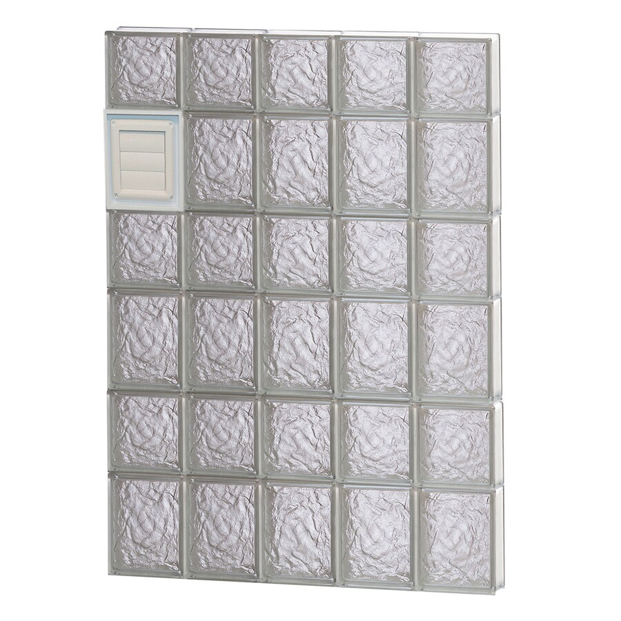 REDI2SET Ice Glass Pattern Frameless Replacement Glass Block Window (Rough Opening: 30-in x 42-in; Actual: 28.75-in x 40.5-in)