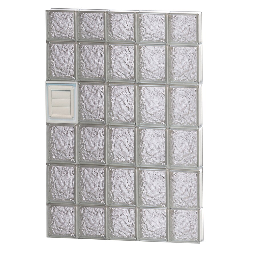 REDI2SET Ice Glass Pattern Frameless Replacement Glass Block Window (Rough Opening: 30-in x 44-in; Actual: 28.75-in x 42.5-in)