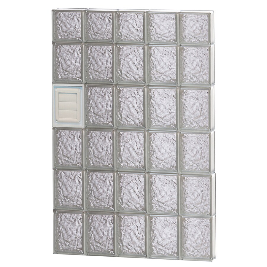 REDI2SET Ice Glass Pattern Frameless Replacement Glass Block Window (Rough Opening: 30-in x 46-in; Actual: 28.75-in x 44.5-in)
