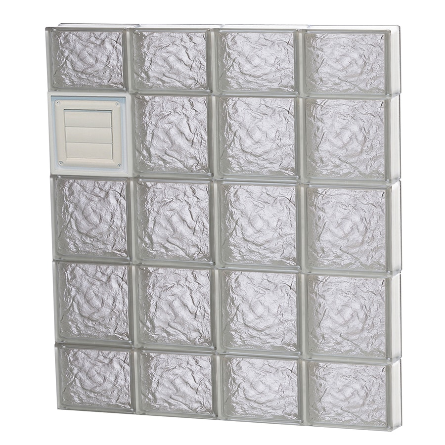 REDI2SET Ice Glass Pattern Frameless Replacement Glass Block Window (Rough Opening: 32-in x 36-in; Actual: 31-in x 34.75-in)