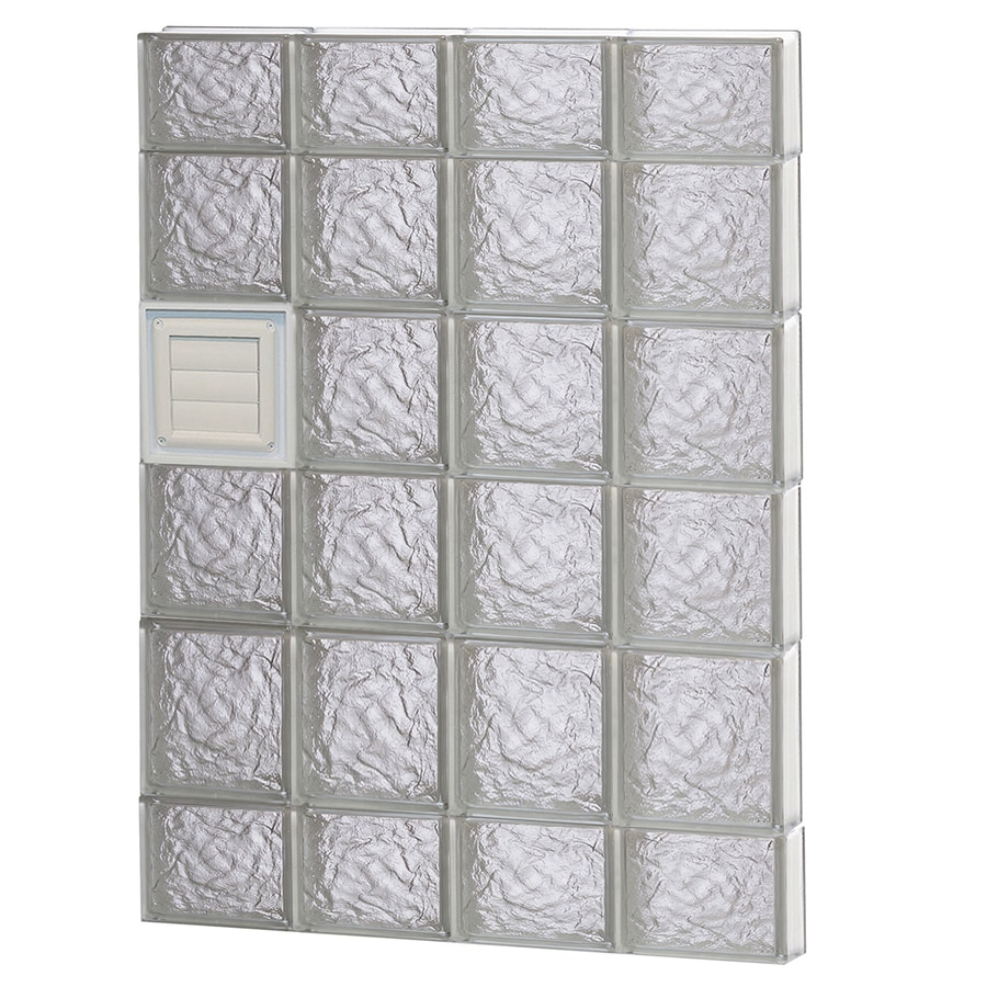 REDI2SET Ice Glass Pattern Frameless Replacement Glass Block Window (Rough Opening: 32-in x 44-in; Actual: 31-in x 42.5-in)