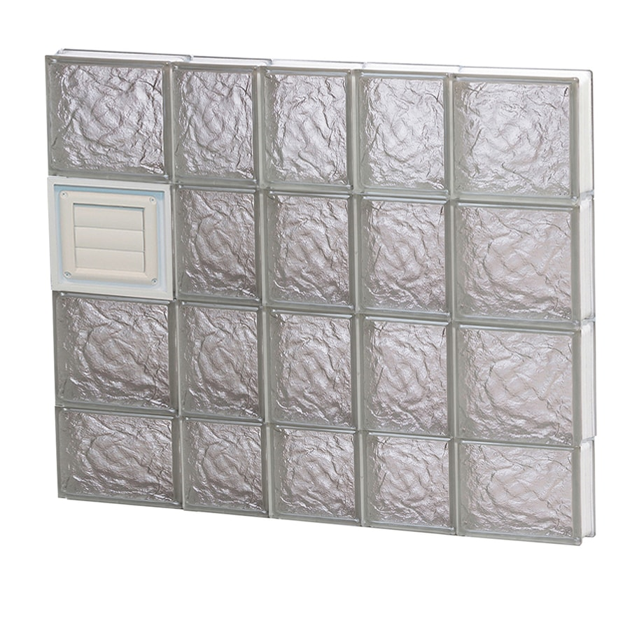 REDI2SET Ice Glass Pattern Frameless Replacement Glass Block Window (Rough Opening: 34-in x 30-in; Actual: 32.75-in x 29-in)