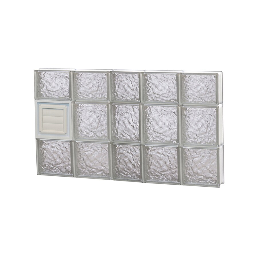 REDI2SET Ice Glass Pattern Frameless Replacement Glass Block Window (Rough Opening: 38-in x 22-in; Actual: 36.75-in x 21.25-in)