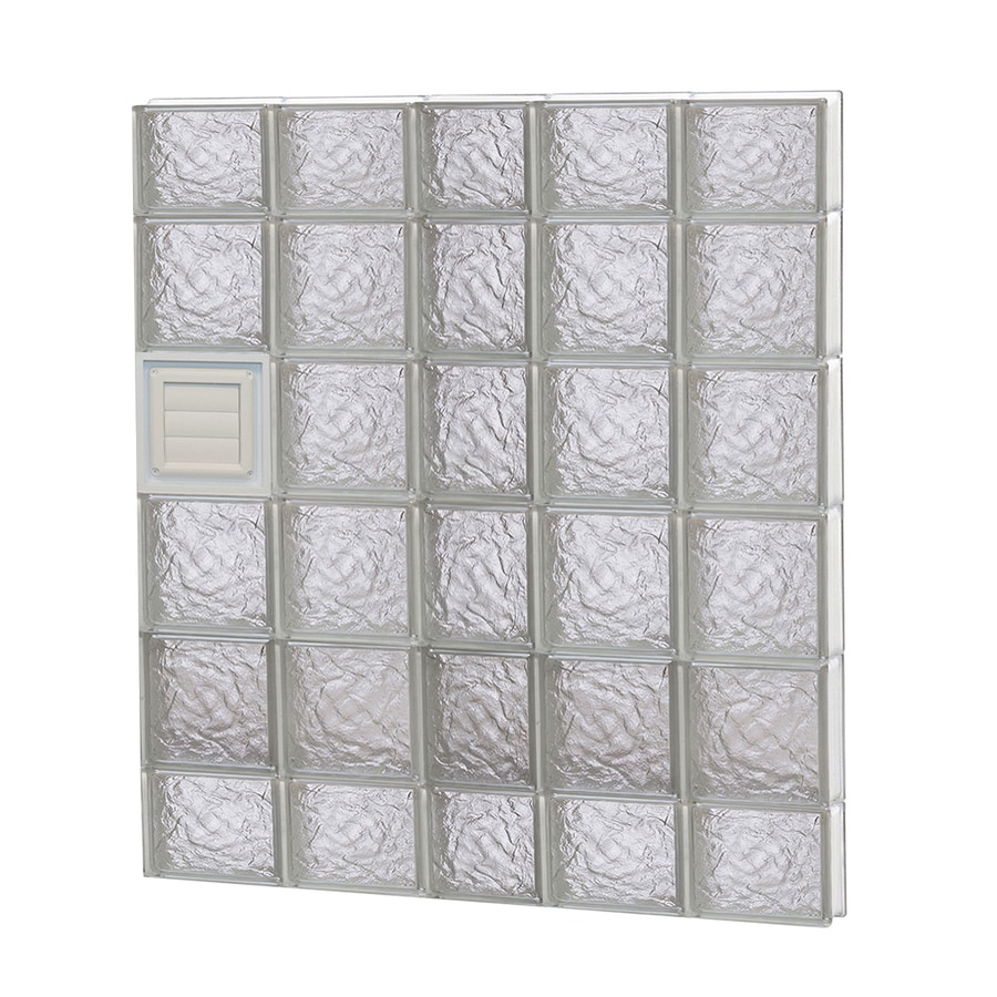 REDI2SET Ice Glass Pattern Frameless Replacement Glass Block Window (Rough Opening: 38-in x 44-in; Actual: 36.75-in x 42.5-in)