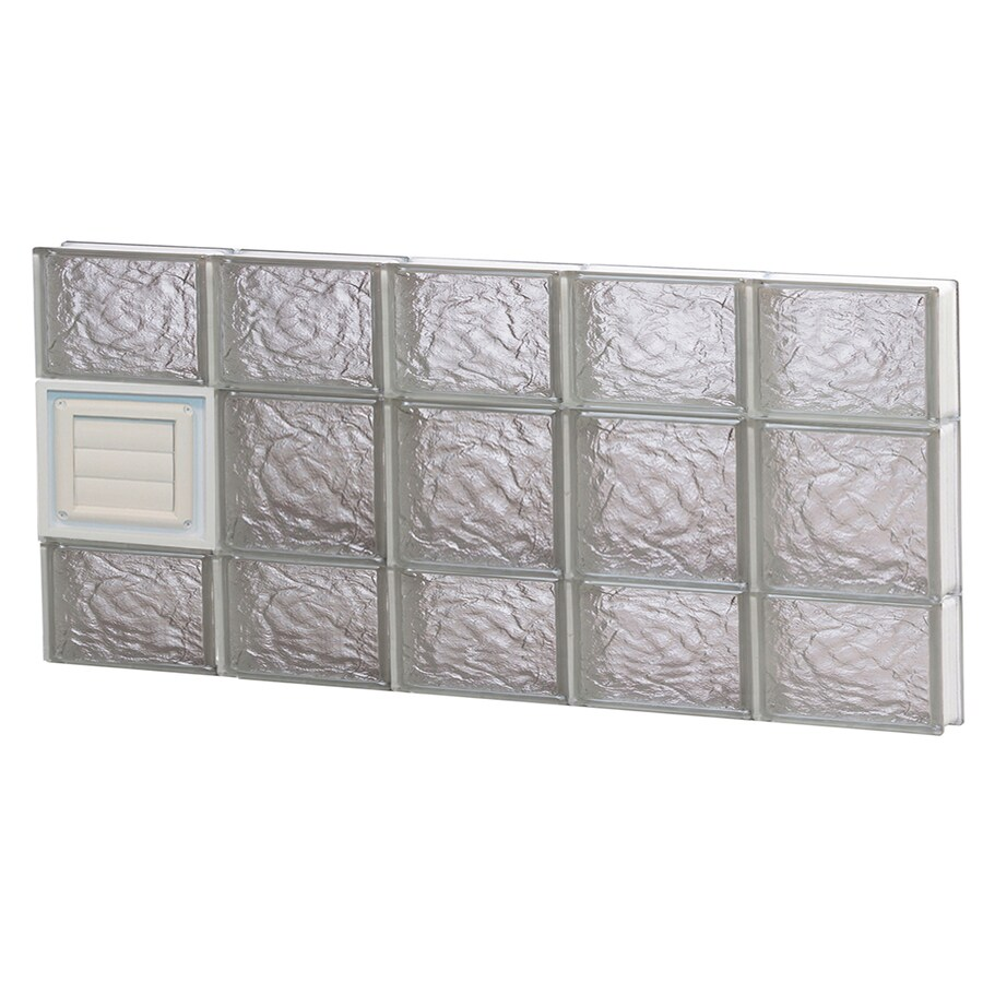 REDI2SET Ice Glass Pattern Frameless Replacement Glass Block Window (Rough Opening: 40-in x 20-in; Actual: 38.75-in x 19.25-in)