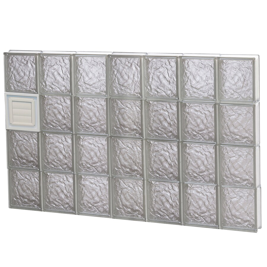 REDI2SET Ice Glass Pattern Frameless Replacement Glass Block Window (Rough Opening: 42-in x 32-in; Actual: 40.25-in x 31-in)