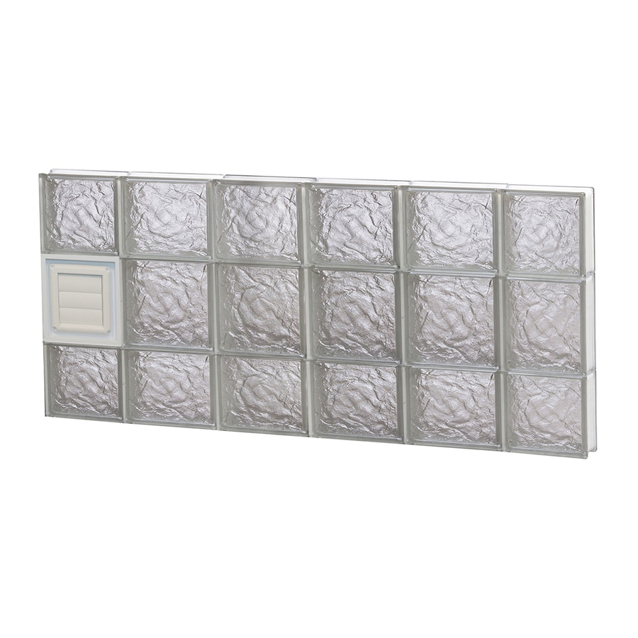 REDI2SET Ice Glass Pattern Frameless Replacement Glass Block Window (Rough Opening: 44-in x 20-in; Actual: 42.5-in x 19.25-in)