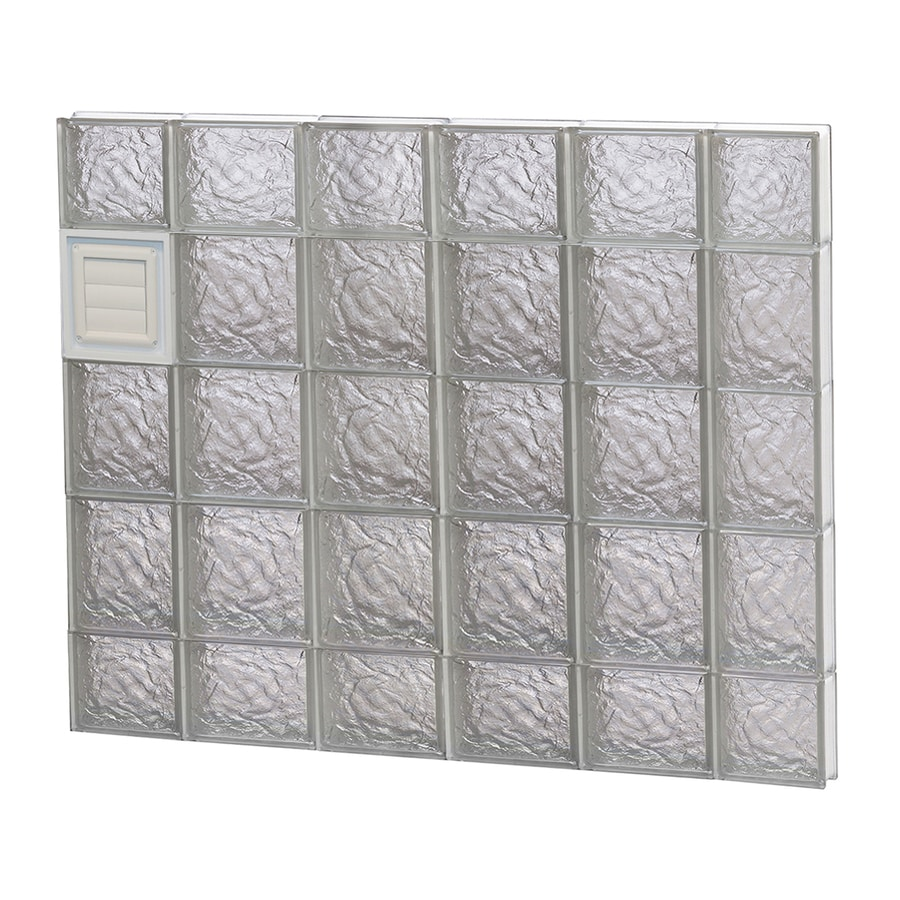 REDI2SET Ice Glass Pattern Frameless Replacement Glass Block Window (Rough Opening: 44-in x 36-in; Actual: 42.5-in x 34.75-in)