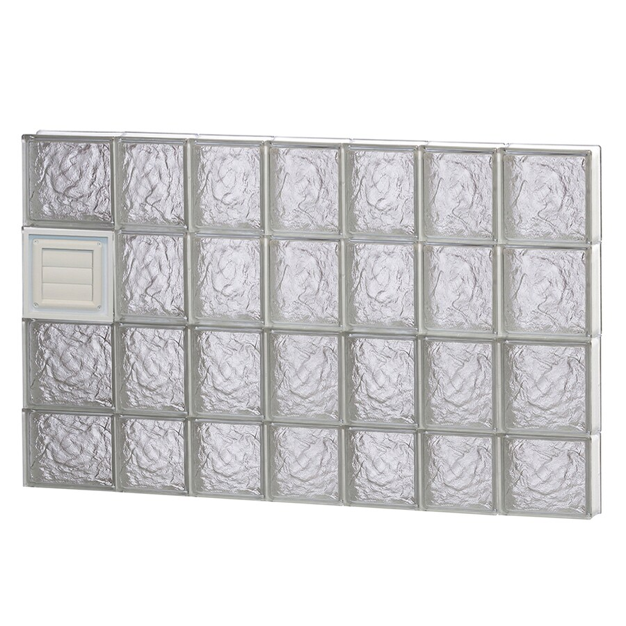 REDI2SET Ice Glass Pattern Frameless Replacement Glass Block Window (Rough Opening: 46-in x 30-in; Actual: 44.25-in x 29-in)
