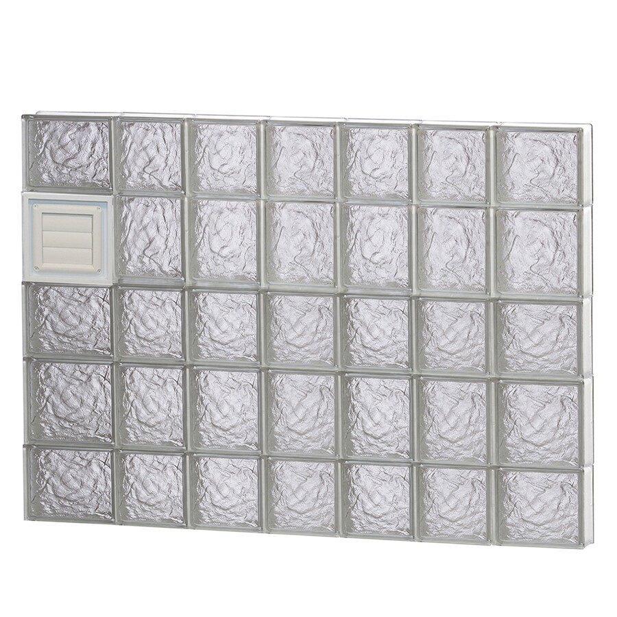 REDI2SET Ice Glass Pattern Frameless Replacement Glass Block Window (Rough Opening: 46-in x 34-in; Actual: 44.25-in x 32.75-in)