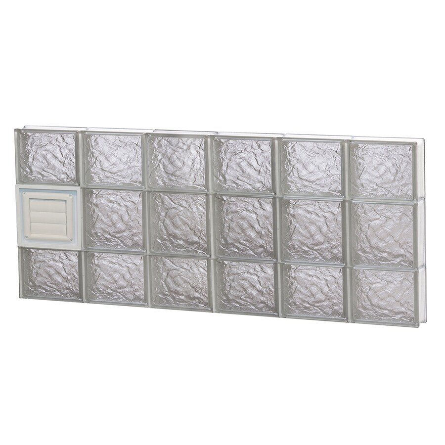 REDI2SET Ice Glass Pattern Frameless Replacement Glass Block Window (Rough Opening: 48-in x 20-in; Actual: 46.5-in x 19.25-in)