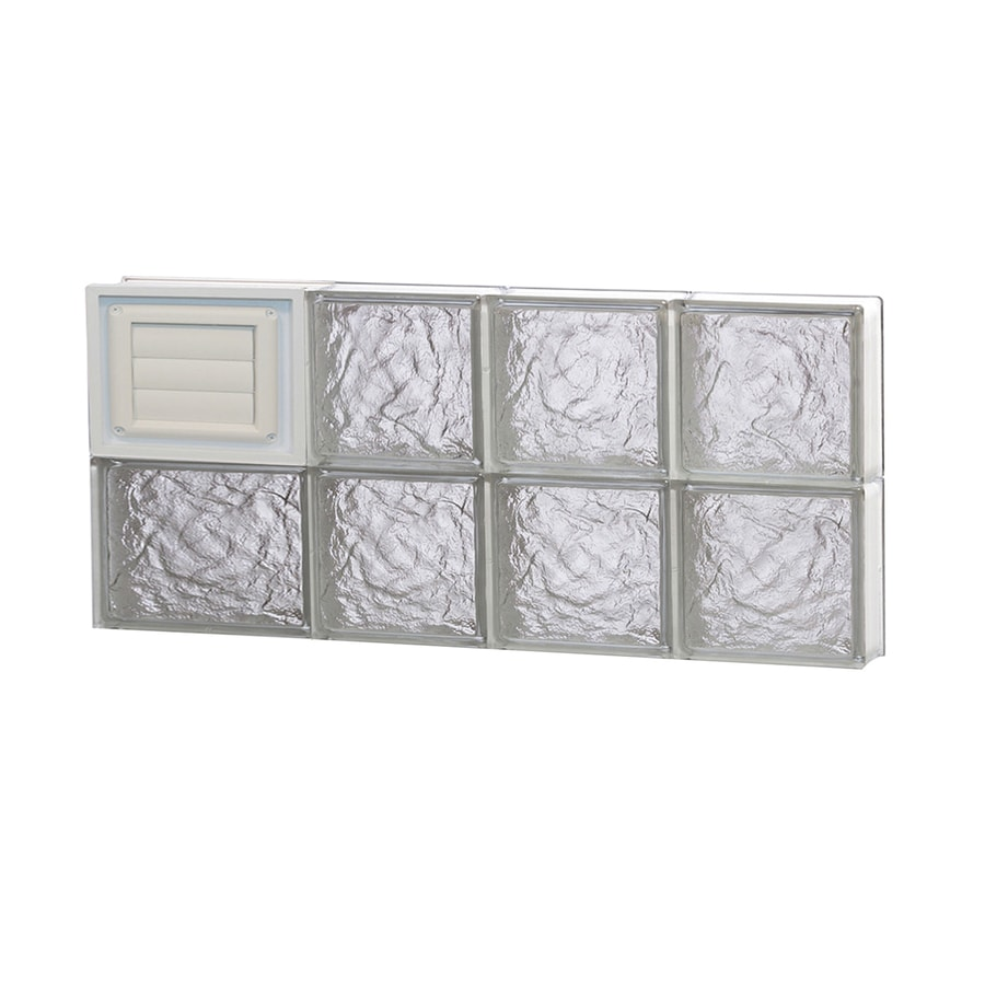 REDI2SET Ice Glass Pattern Frameless Replacement Glass Block Window (Rough Opening: 26-in x 12-in; Actual: 25-in x 11.5-in)