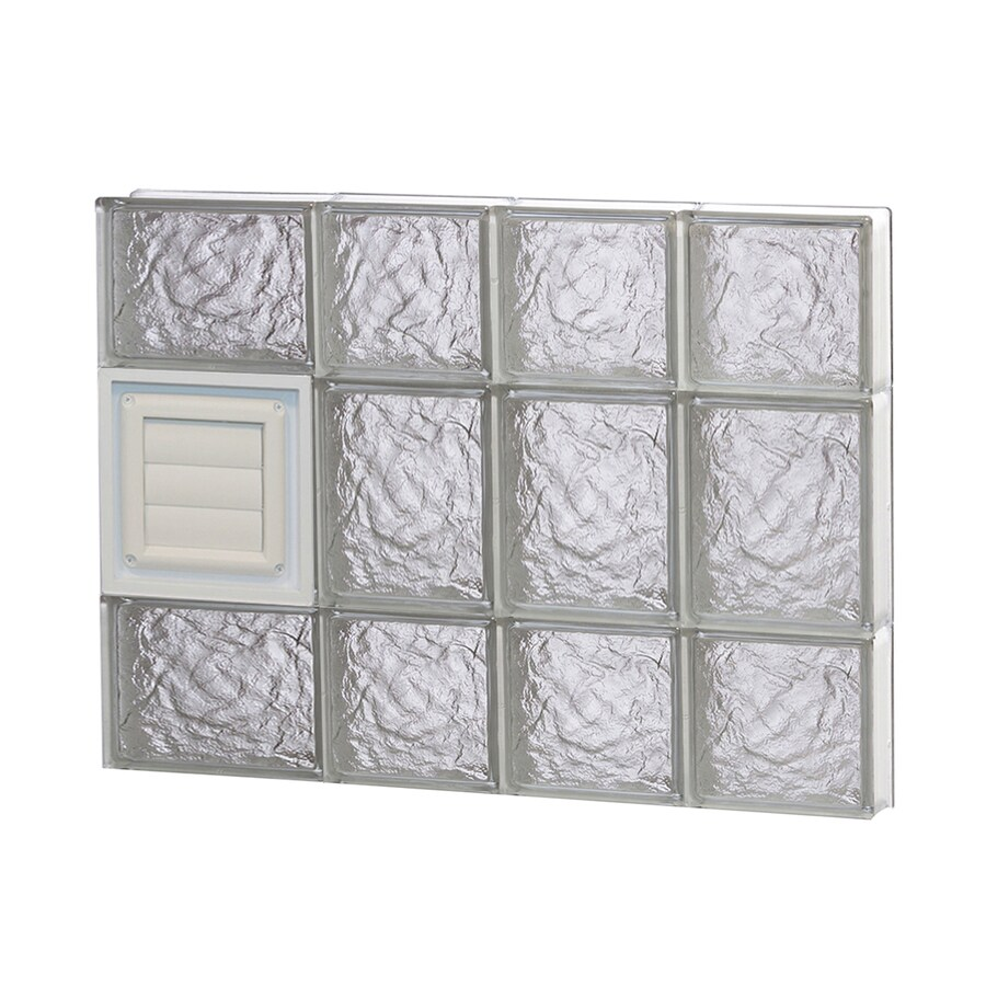 REDI2SET Ice Glass Pattern Frameless Replacement Glass Block Window (Rough Opening: 26-in x 20-in; Actual: 25-in x 19.25-in)