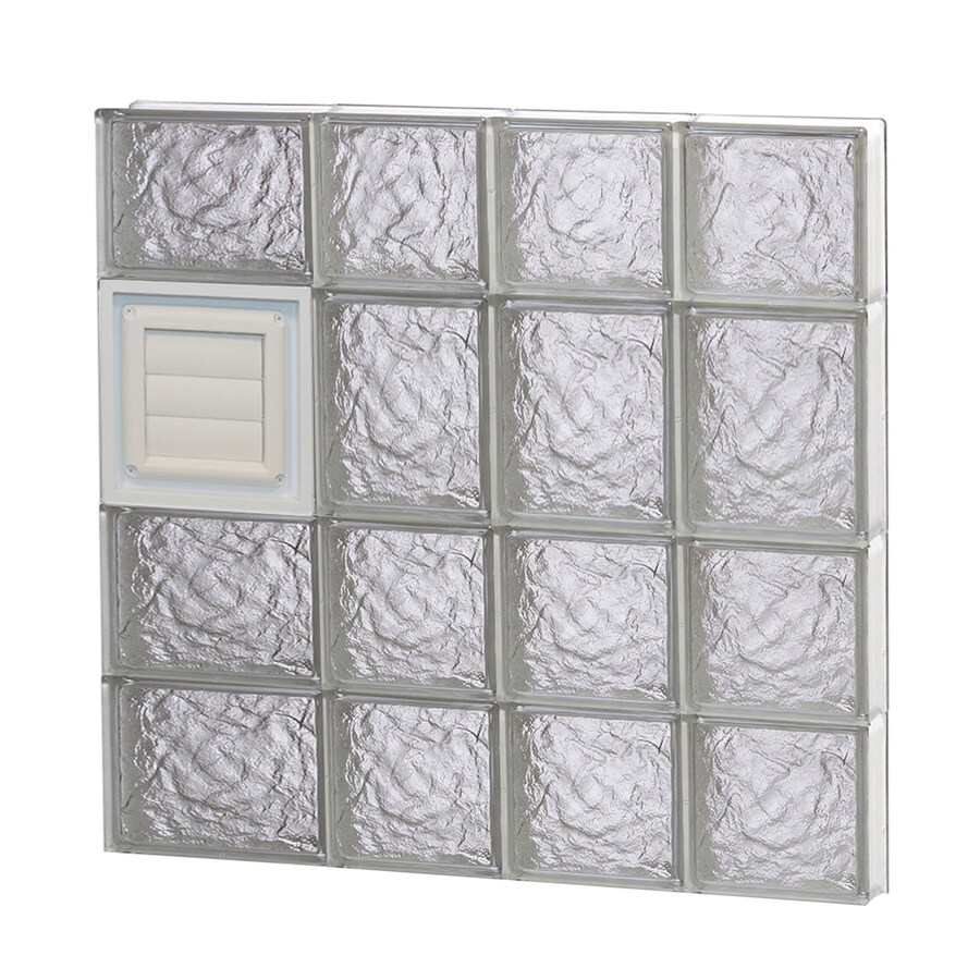 REDI2SET Ice Glass Pattern Frameless Replacement Glass Block Window (Rough Opening: 26-in x 26-in; Actual: 25-in x 25-in)