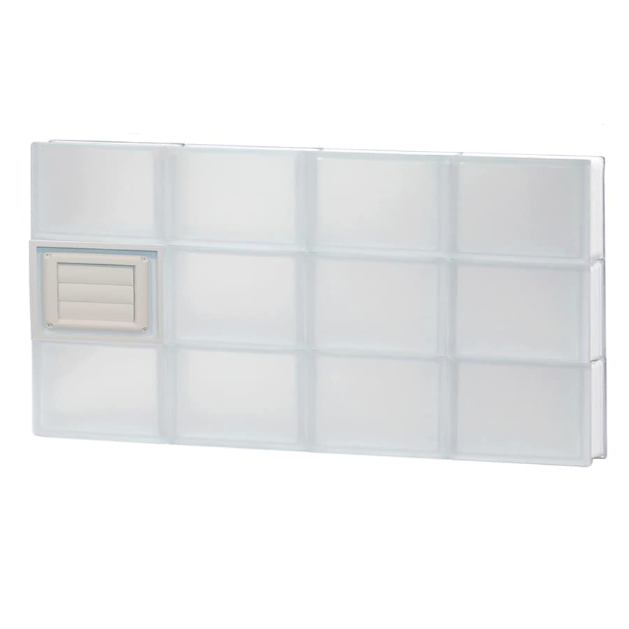 REDI2SET Frosted Glass Pattern Frameless Replacement Glass Block Window (Rough Opening: 32-in x 18-in; Actual: 31-in x 17.25-in)