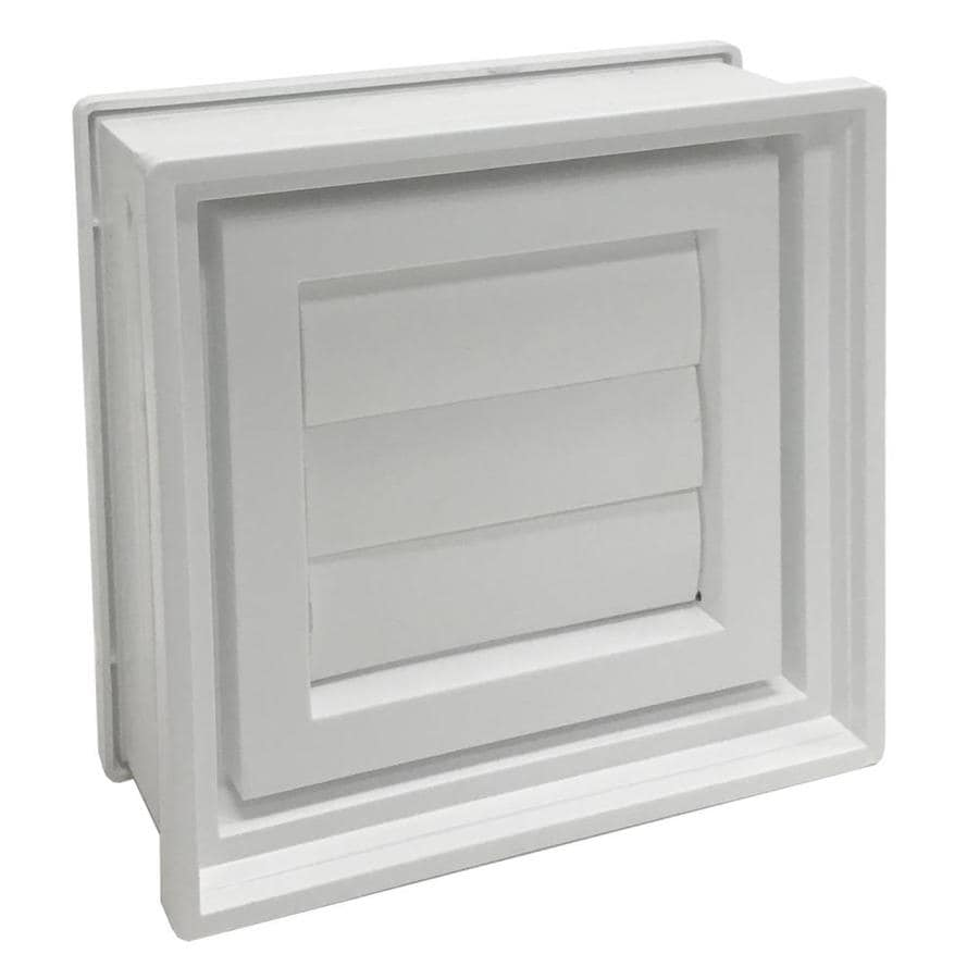 REDI2SET Glass Block Vent (Common: 8-in W x 8-in H x 3-in D; Actual: 7.75-in W x 7.75-in H x 3.125-in D)