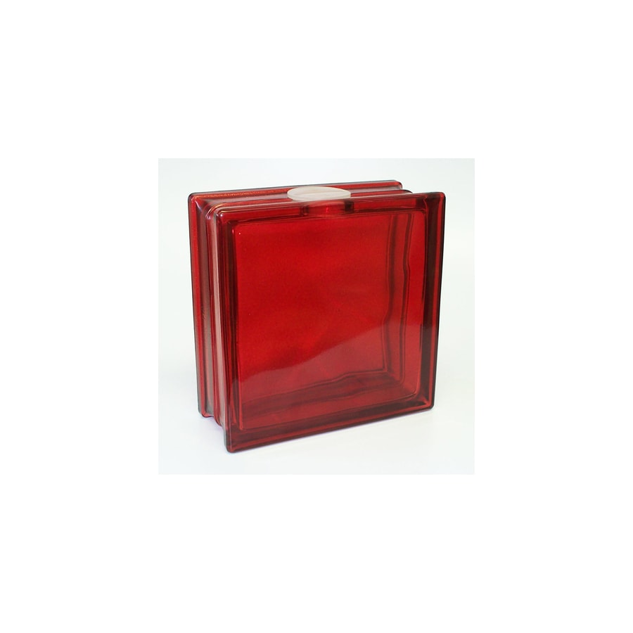 REDI2CRAFT Glass Block (Common: 8-in H x 8-in W x 3-in D; Actual: 7.5-in H x 7.5-in W x 3.1-in D)