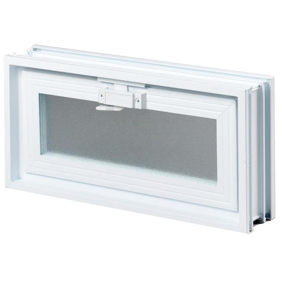 Shop redi2set glass block vent common 18 in w x 8 in h x for Acrylic block window