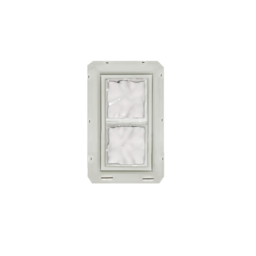 CrystaLok Wavy Pattern Vinyl Glass Block Window (Rough Opening: 10-in x 17.75-in; Actual: 9.25-in x 16.75-in)