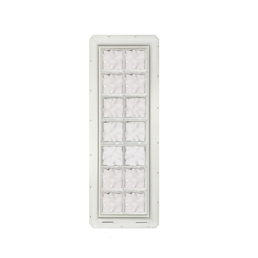 CrystaLok Wavy Pattern Vinyl Glass Block Window (Rough Opening: 17.75-in x 56.5-in; Actual: 16.75-in x 54.25-in)