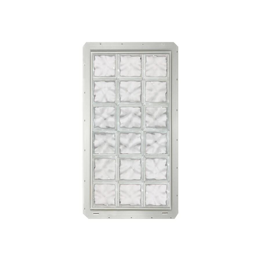 CrystaLok Wavy Pattern Vinyl Glass Block Window (Rough Opening: 25.5-in x 64.25-in; Actual: 24.25-in x 61.75-in)