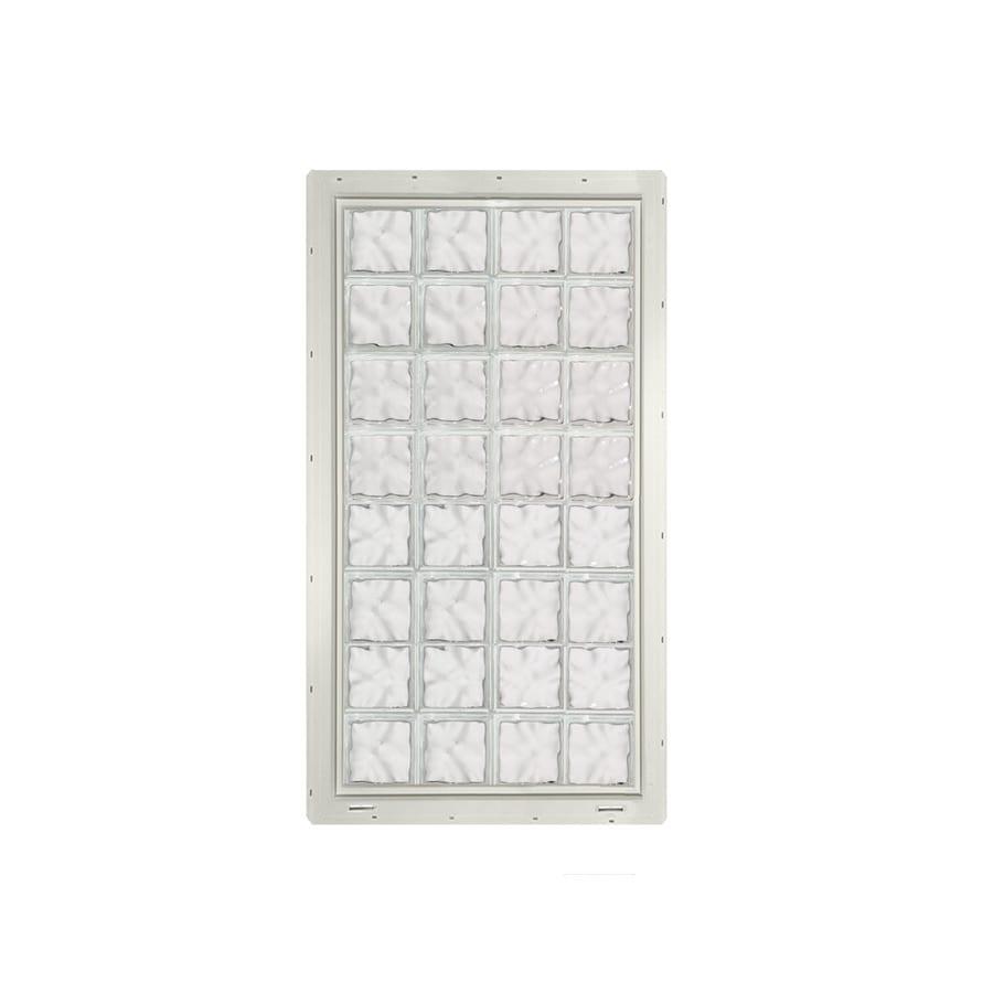CrystaLok Wavy Pattern Vinyl Glass Block Window (Rough Opening: 33.25-in x 64.25-in; Actual: 31.75-in x 61.75-in)