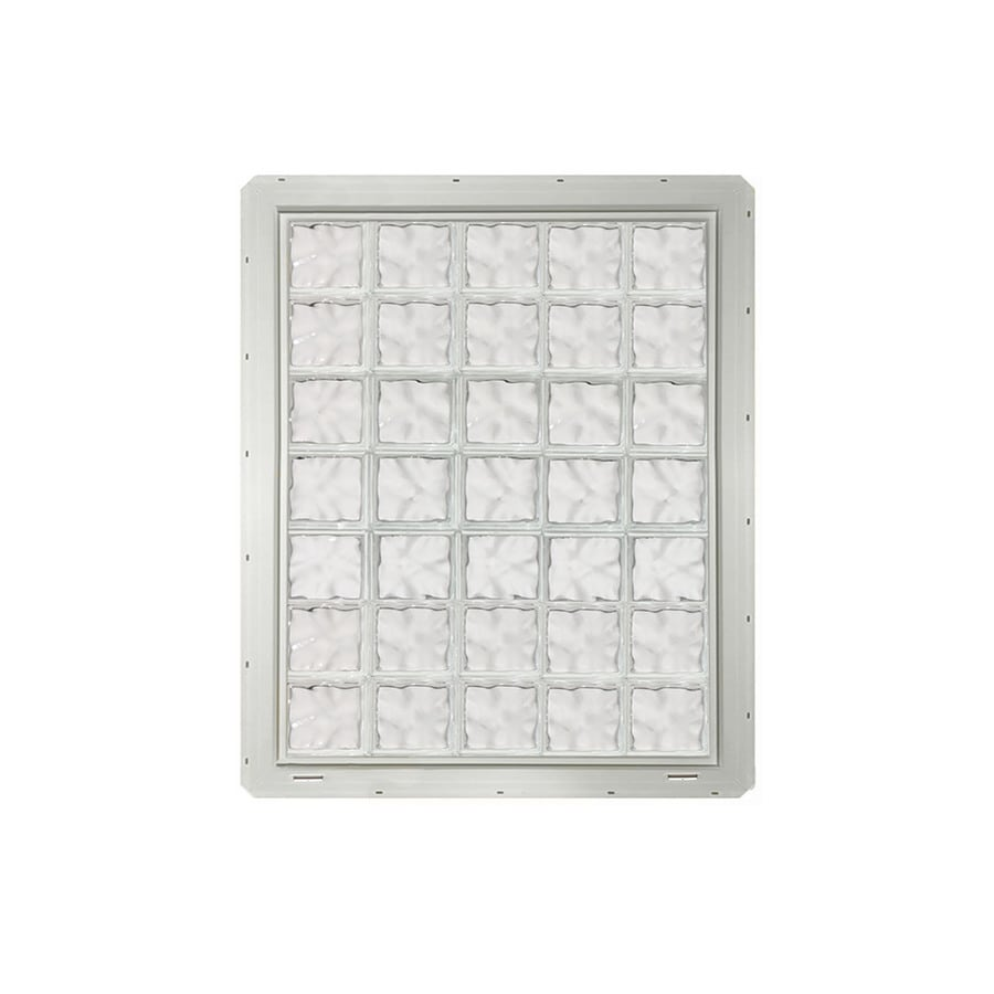 CrystaLok Wavy Pattern Vinyl Glass Block Window (Rough Opening: 41-in x 56.5-in; Actual: 39.25-in x 54.25-in)