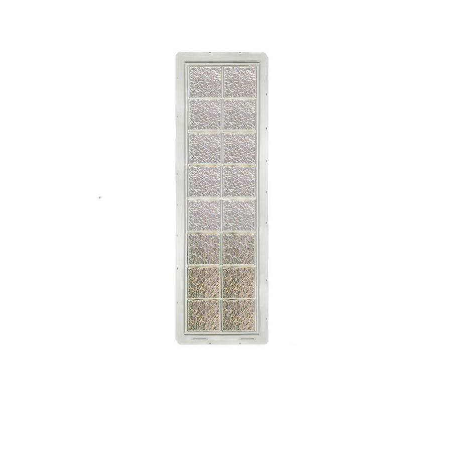 CrystaLok Ice Pattern Vinyl Glass Block Window (Rough Opening: 17.75-in x 64.25-in; Actual: 16.75-in x 61.75-in)