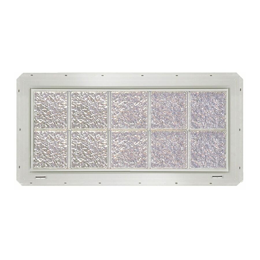 CrystaLok Ice Pattern Vinyl Glass Block Window (Rough Opening: 41-in x 17.75-in; Actual: 39.25-in x 16.75-in)