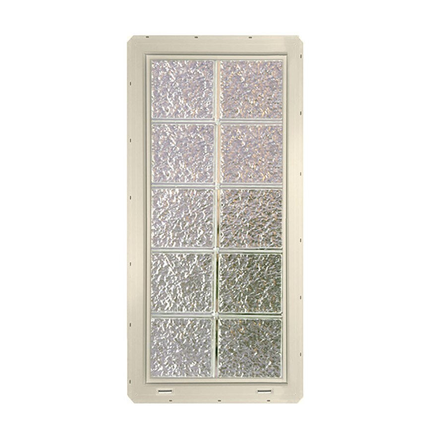 CrystaLok Ice Pattern Vinyl Glass Block Window (Rough Opening: 17.75-in x 41-in; Actual: 16.75-in x 39.25-in)