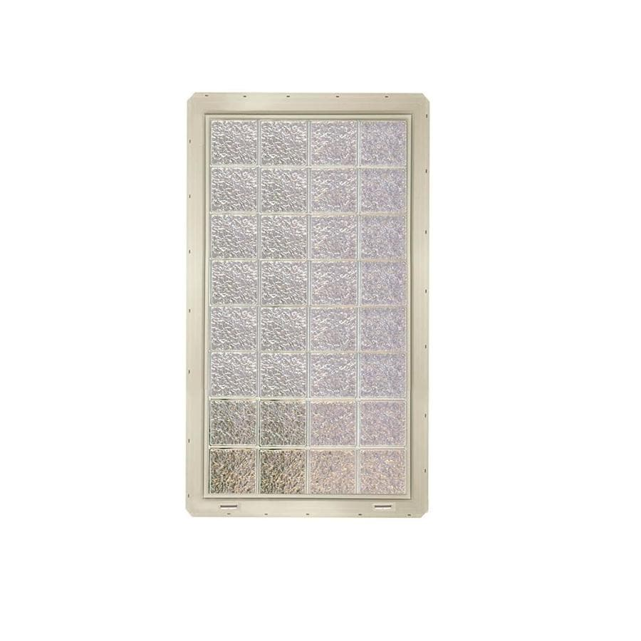 CrystaLok Ice Pattern Vinyl Glass Block Window (Rough Opening: 33.25-in x 64.25-in; Actual: 31.75-in x 61.75-in)