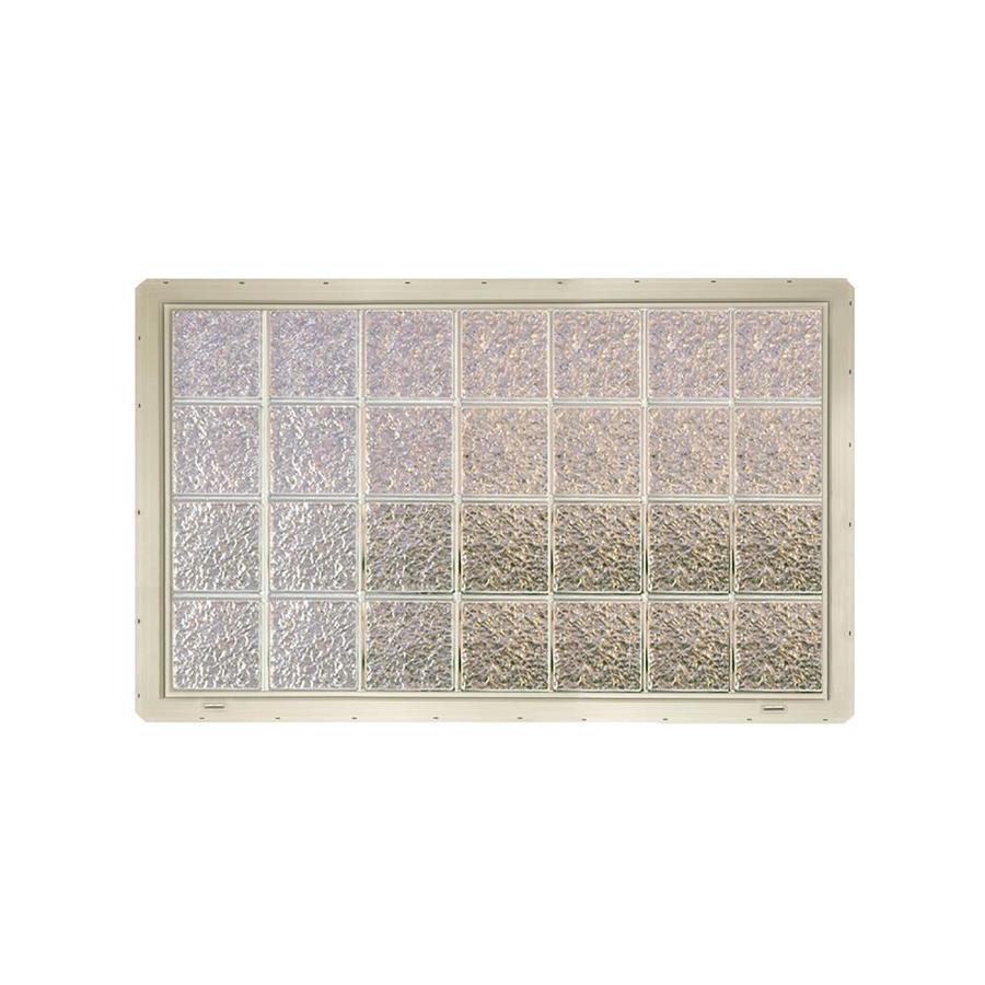 CrystaLok Ice Pattern Vinyl Glass Block Window (Rough Opening: 56.5-in x 33.25-in; Actual: 54.25-in x 31.75-in)