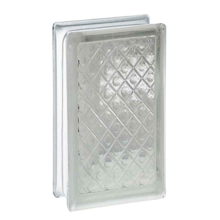 REDI2SET 10-Pack Glass Block (Common: 8-in H x 4-in W x 3-in D; Actual: 7.75-in H x 3.75-in W x 3.12-in D)