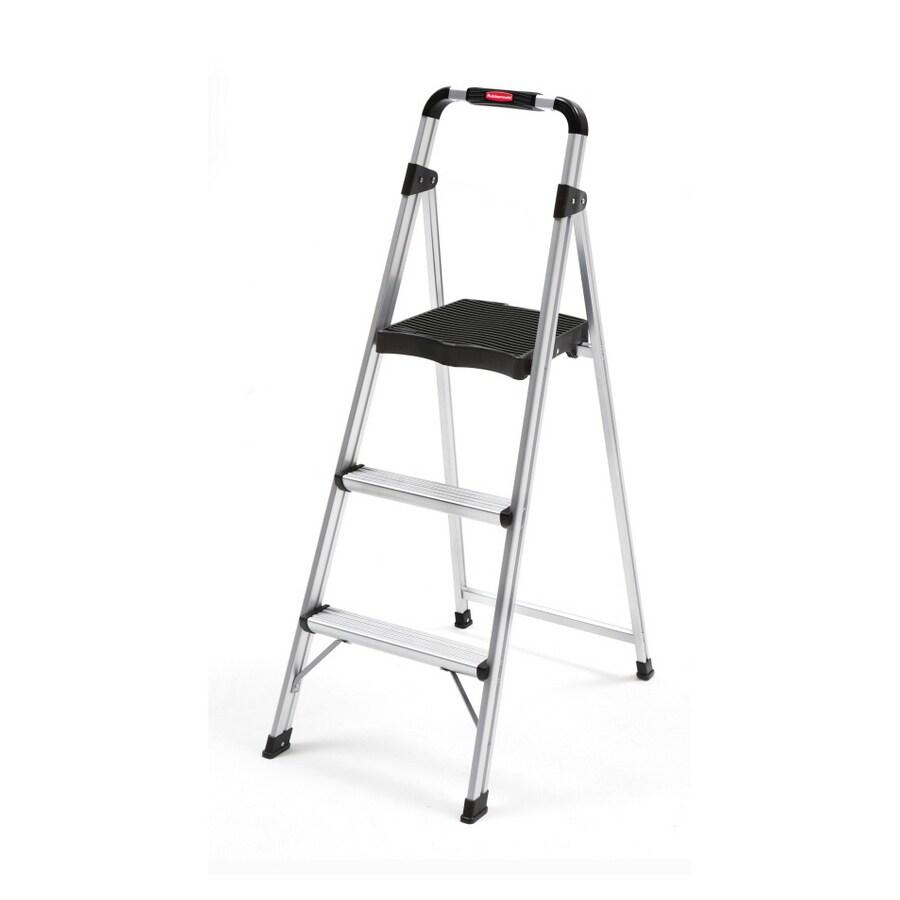 Rubbermaid 3-Step Gray Aluminum Step Stool
