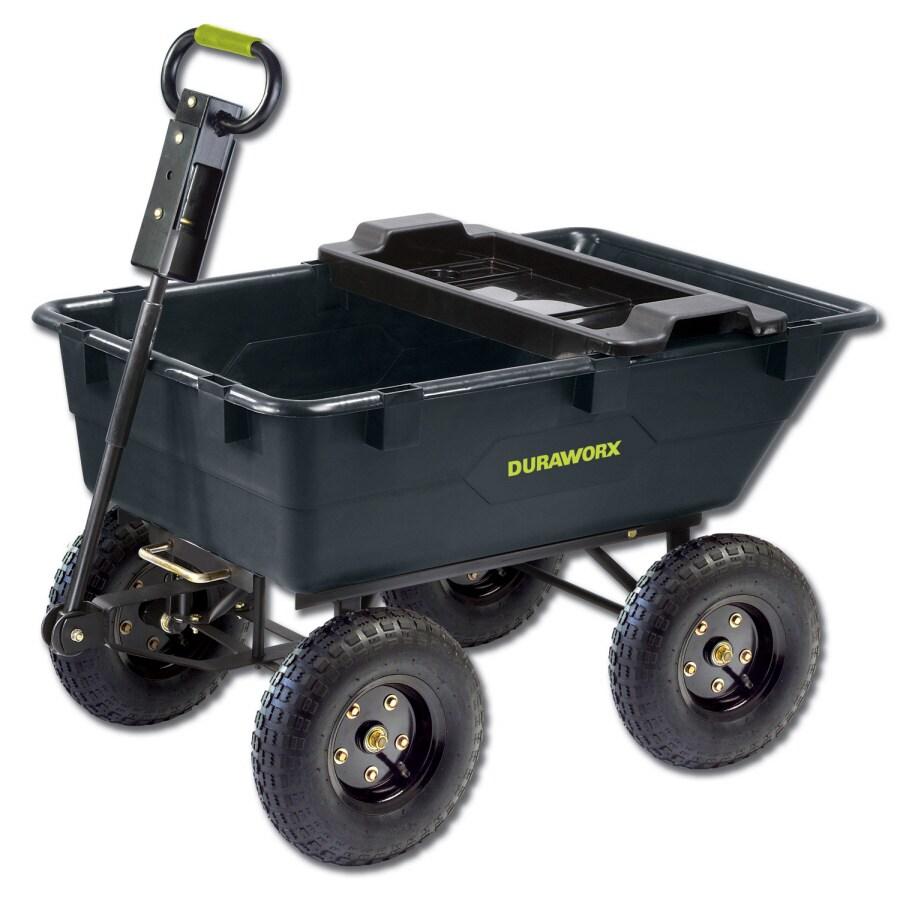 Duraworx 5.5 Cu. Ft. Plastic Yard Cart