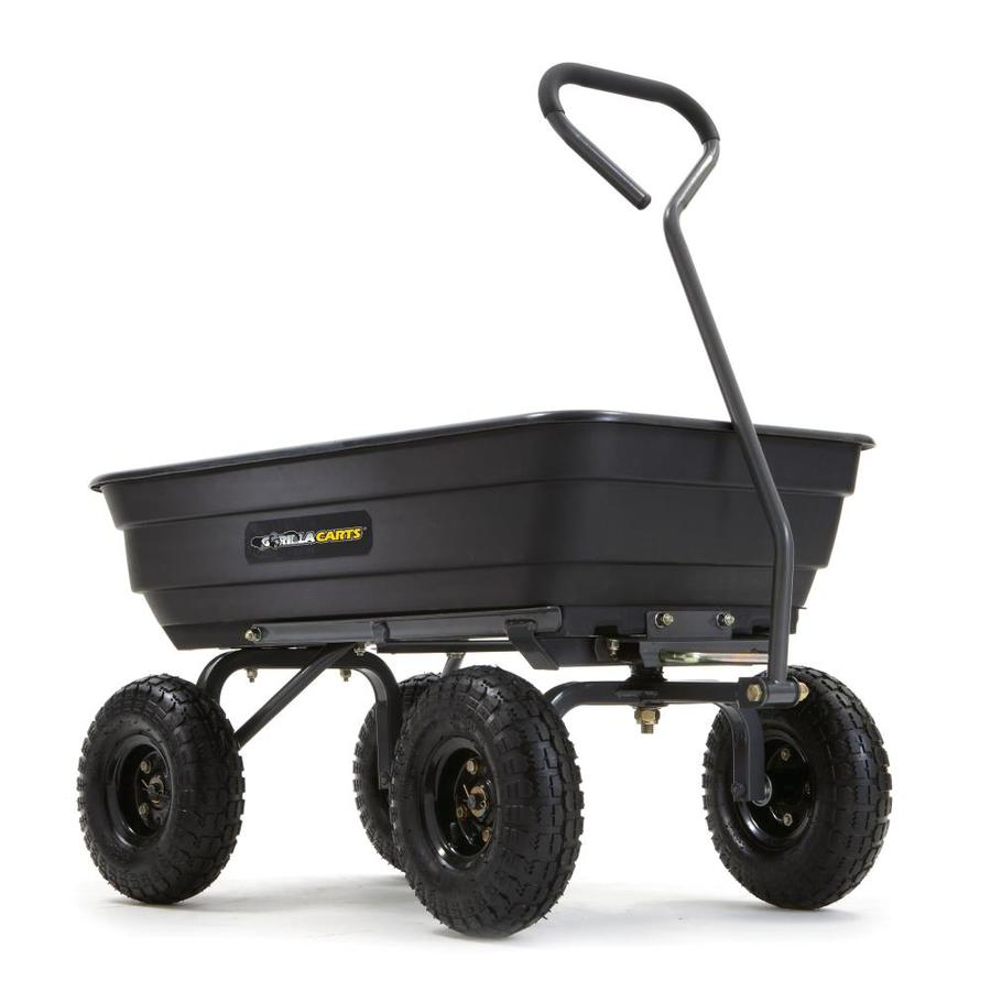 Shop Gorilla Carts 4 Cu Ft Poly Yard Cart At Lowes Com