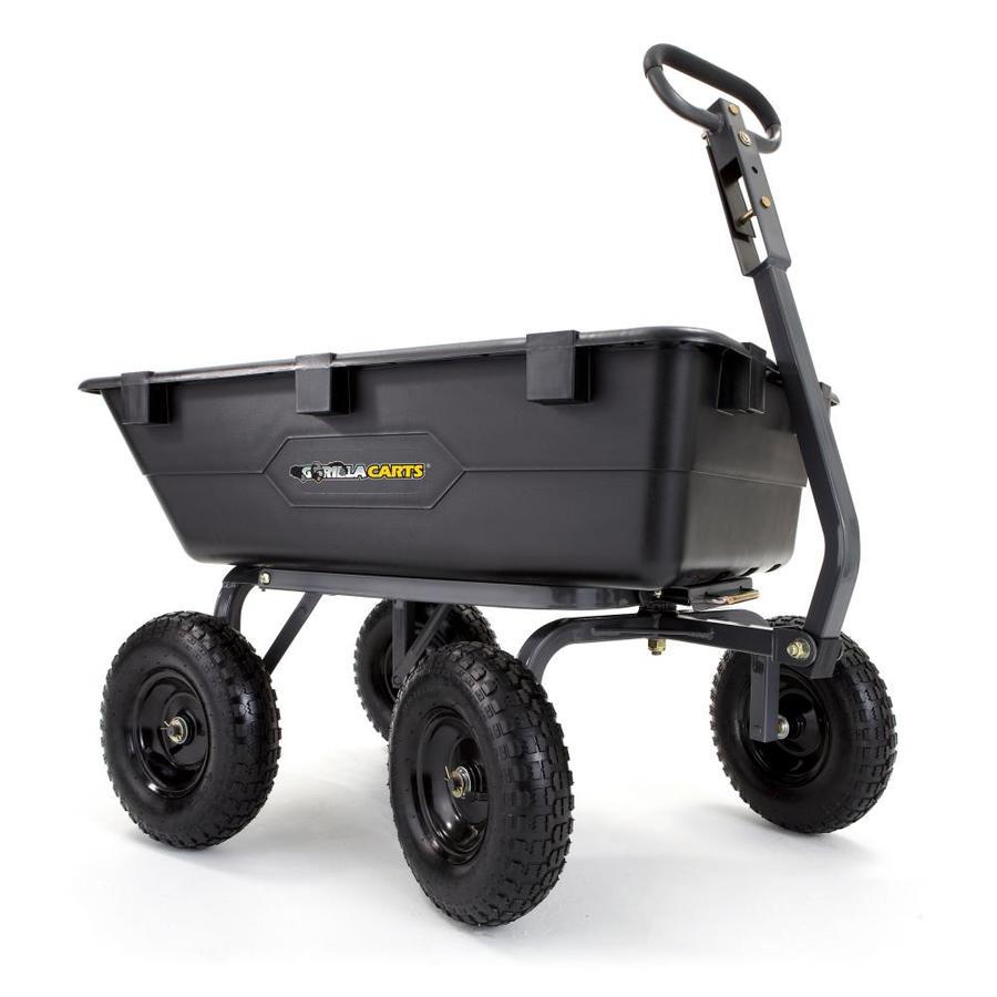 Gorilla Carts 6-cu ft Poly Yard Cart
