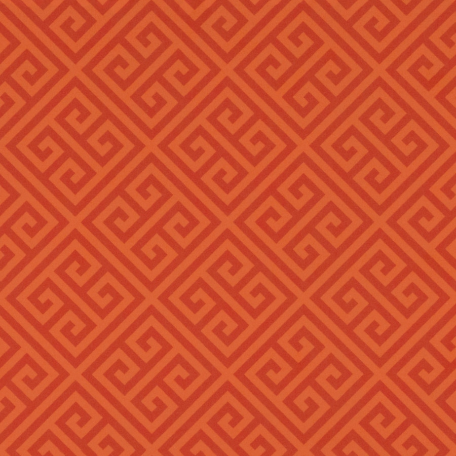 Formica Brand Laminate Orange Greek Key in Matte Laminate Kitchen Countertop Sample