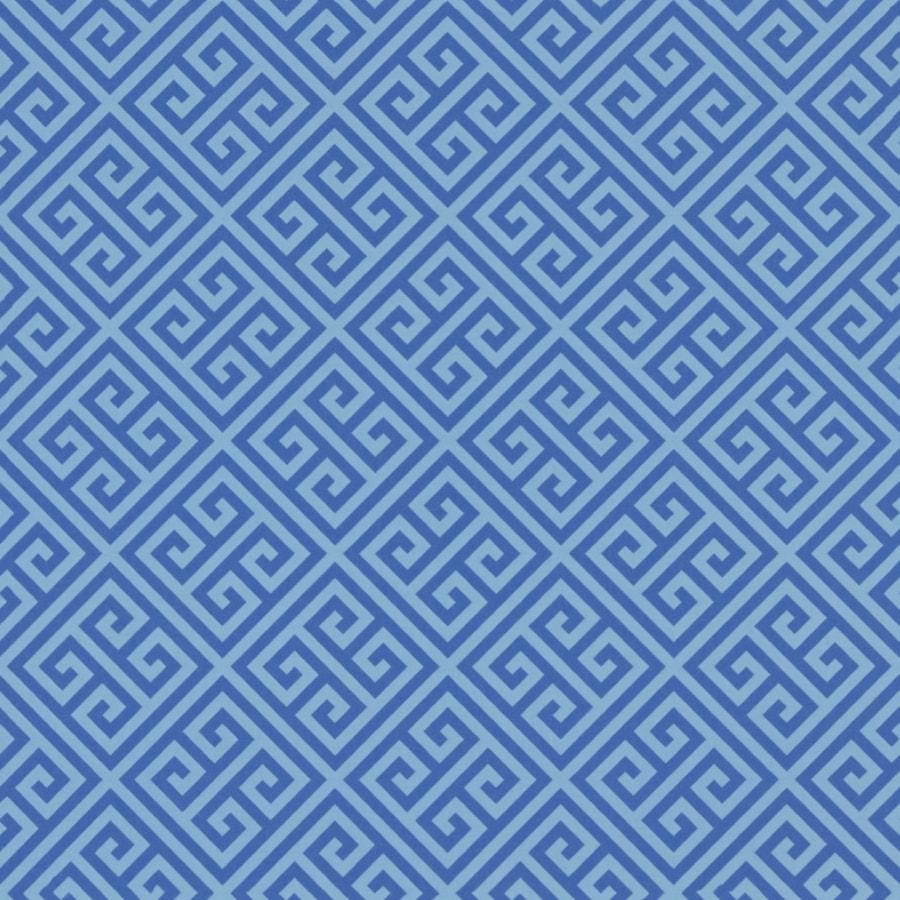 Formica Brand Laminate Blue Greek Key in Matte Laminate Kitchen Countertop Sample