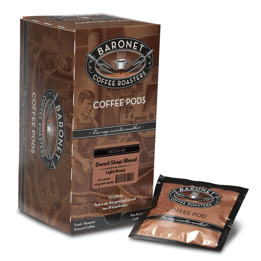 Baronet 16-Pack Donut Shop Blend Donut Shop Blend Single-Serve Coffee