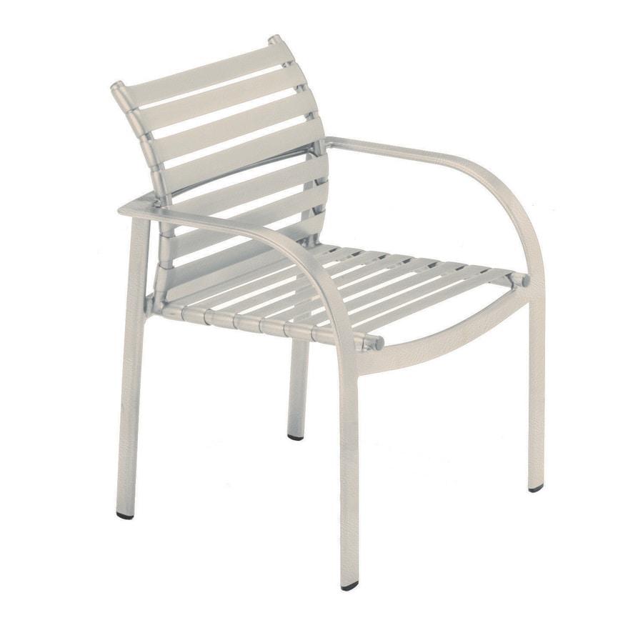 Sun Isle Preston 2-Count Antique Bisque Aluminum Stackable Patio Dining Chairs